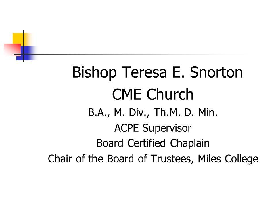 Bishop Teresa E. Snorton CME Church