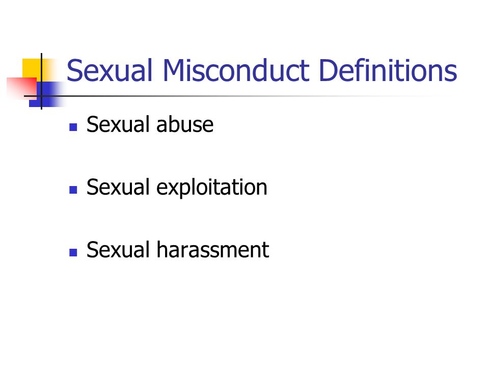 Sexual Misconduct Definitions