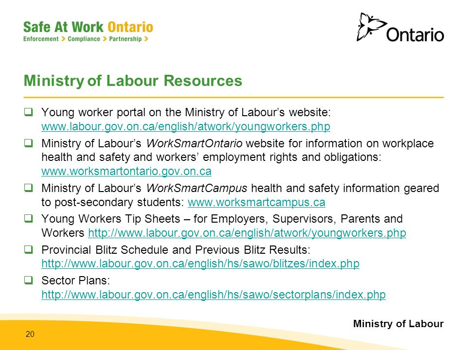 Ministry of Labour Resources