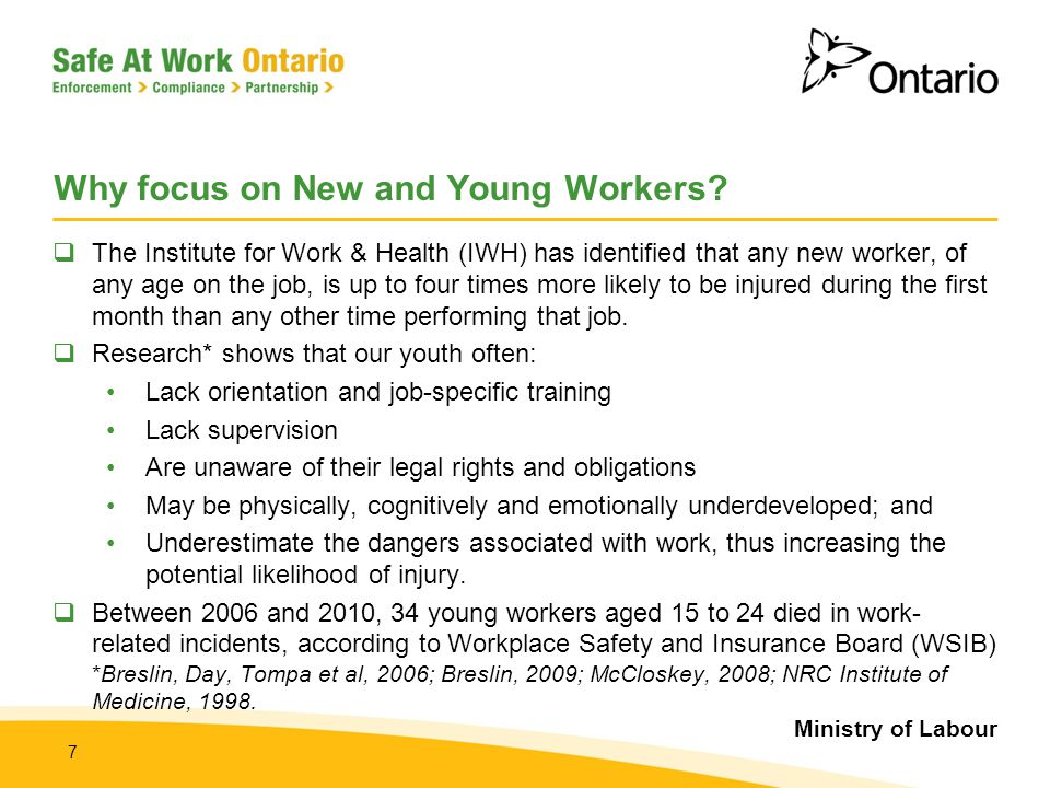 Why focus on New and Young Workers