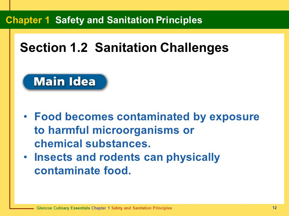 Section 1.2 Sanitation Challenges
