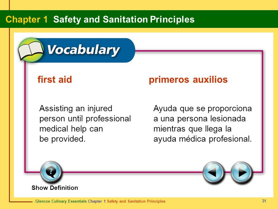 first aid primeros auxilios