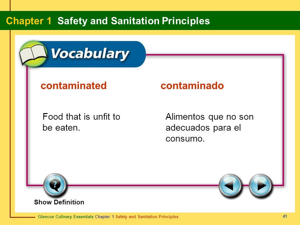 contaminated contaminado