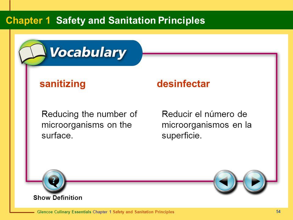 sanitizing desinfectar