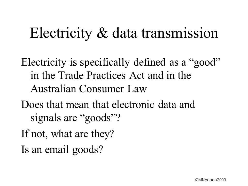 Electricity & data transmission