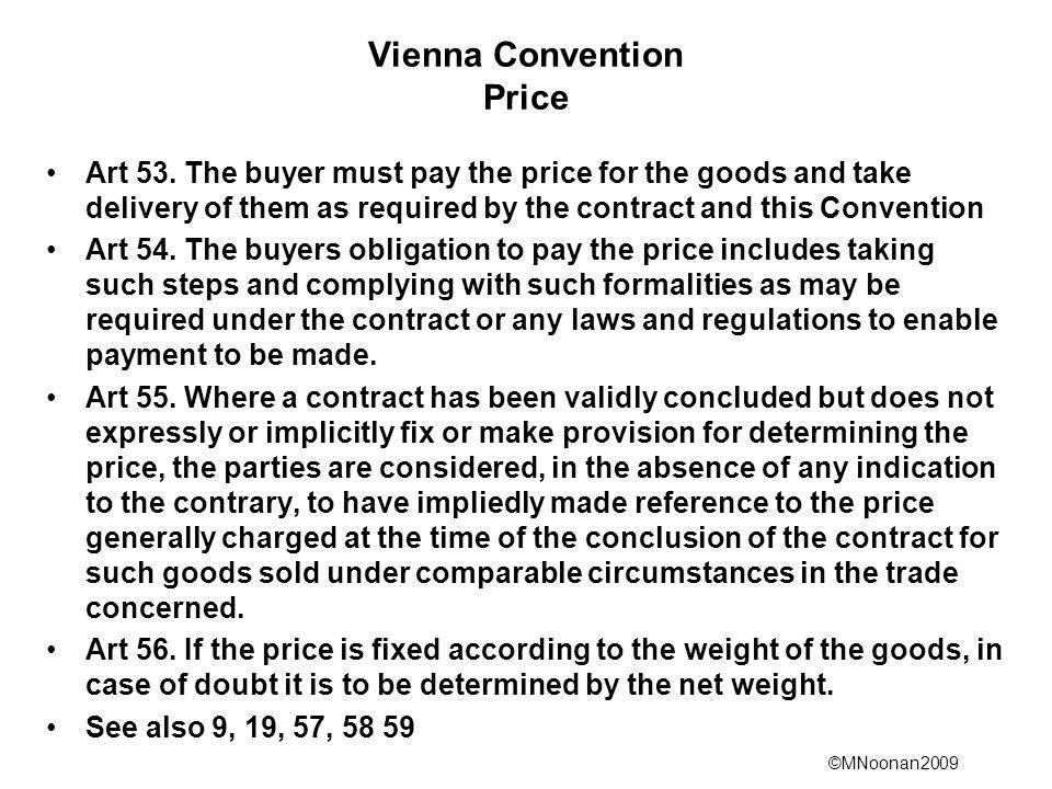 Vienna Convention Price