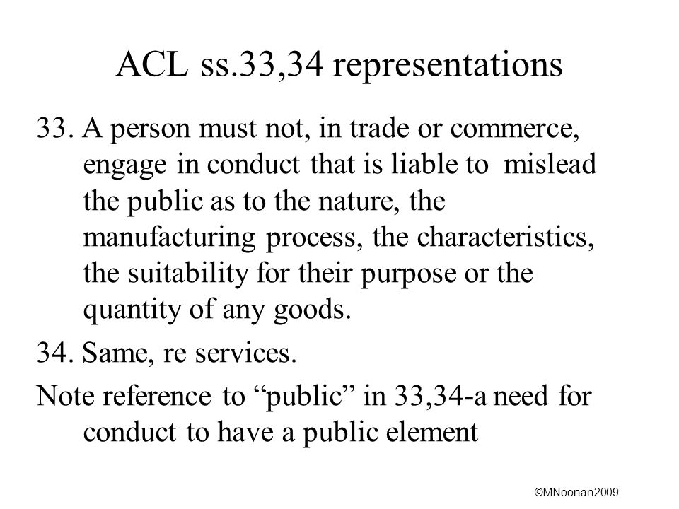 ACL ss.33,34 representations