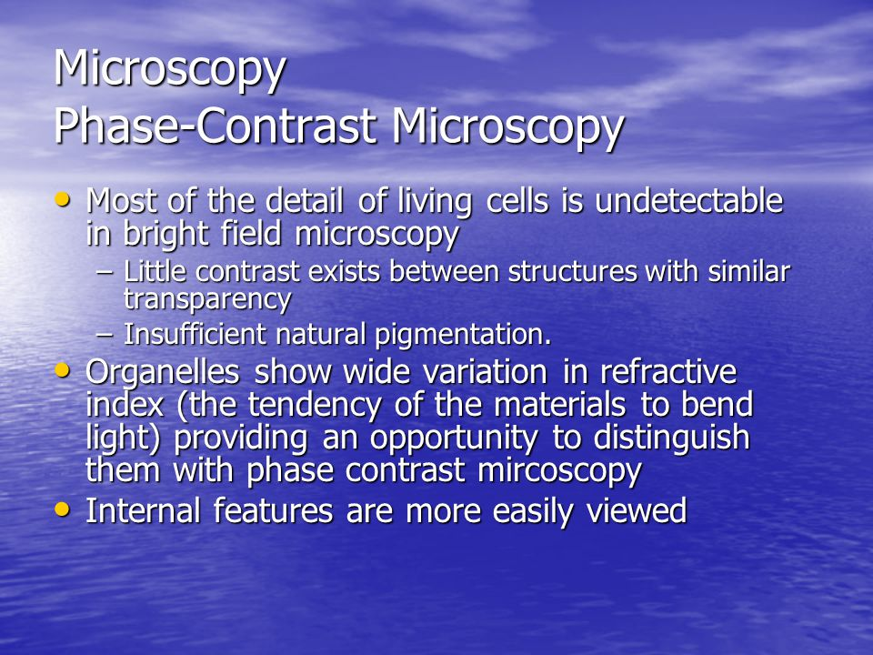 Microscopy Phase-Contrast Microscopy