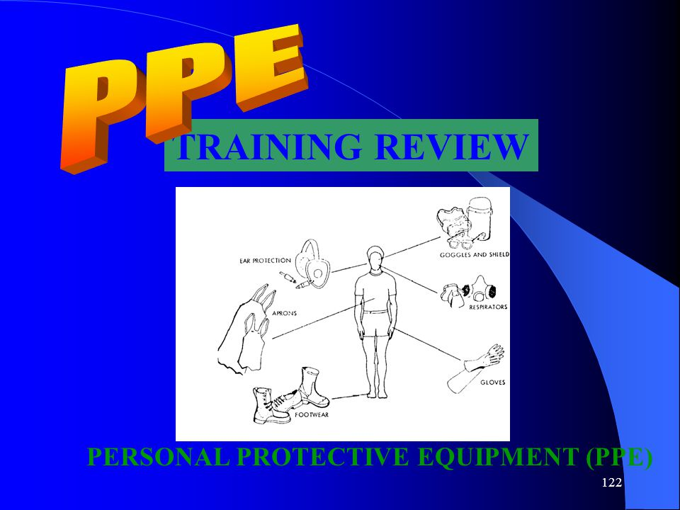 PPE TRAINING REVIEW PERSONAL PROTECTIVE EQUIPMENT (PPE)