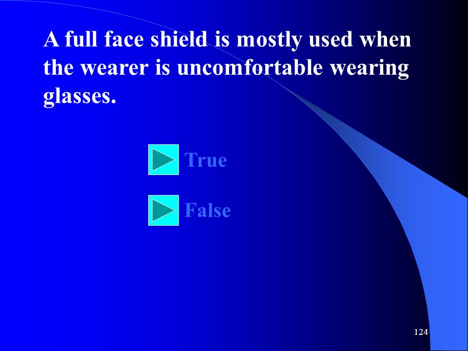 A full face shield is mostly used when the wearer is uncomfortable wearing glasses.