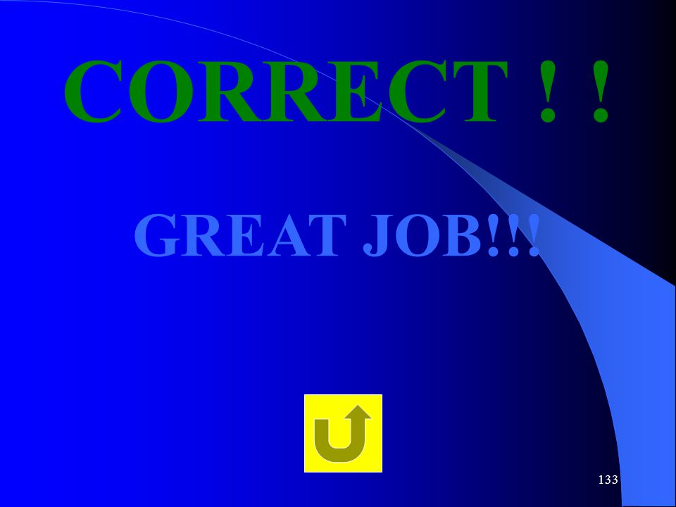 CORRECT ! ! GREAT JOB!!!