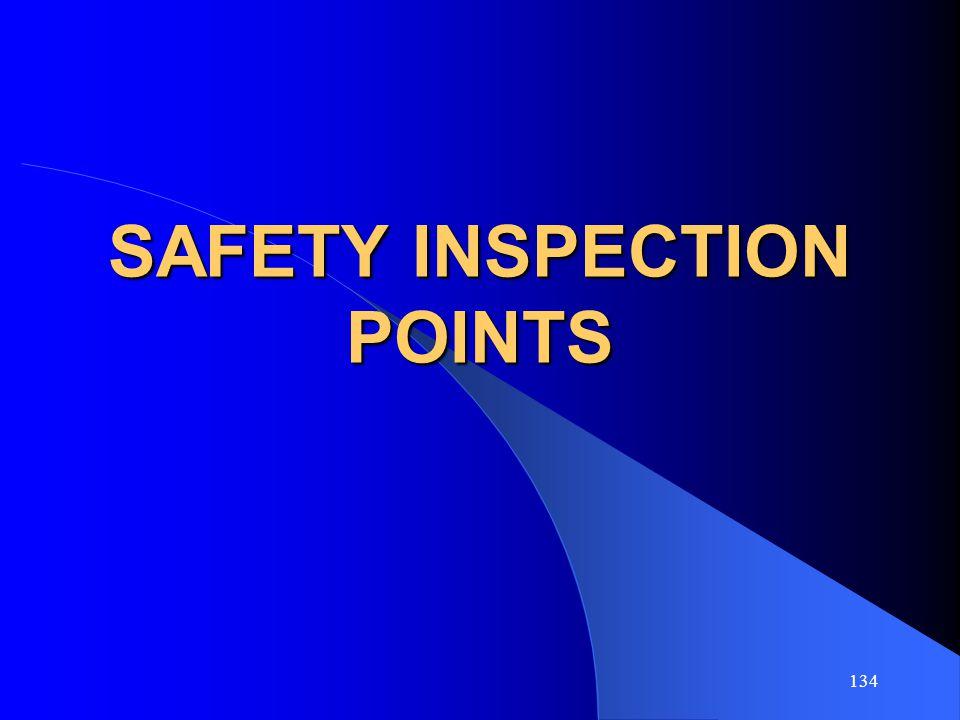 SAFETY INSPECTION POINTS