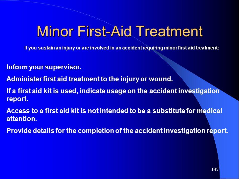 Minor First-Aid Treatment