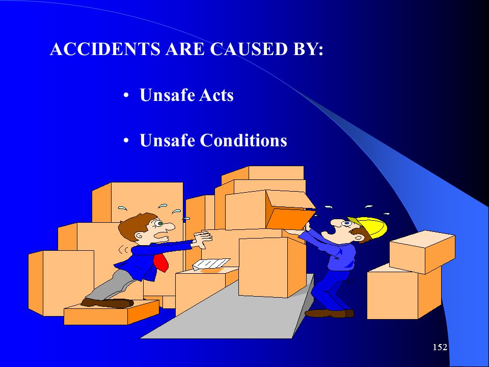 ACCIDENTS ARE CAUSED BY: