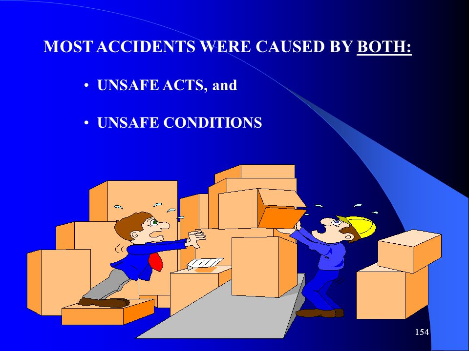MOST ACCIDENTS WERE CAUSED BY BOTH: