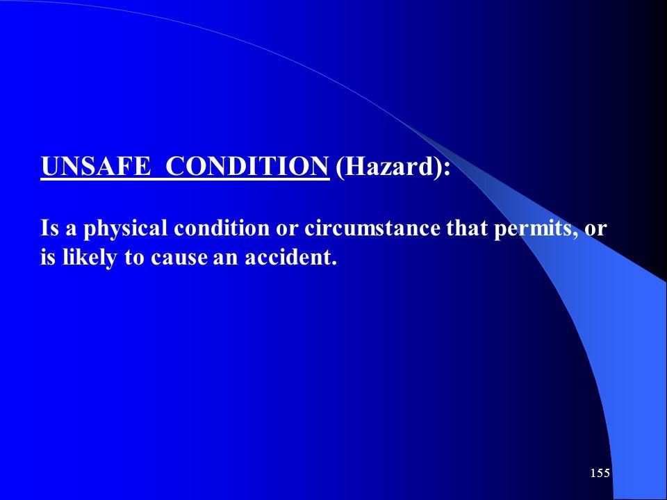 UNSAFE CONDITION (Hazard):