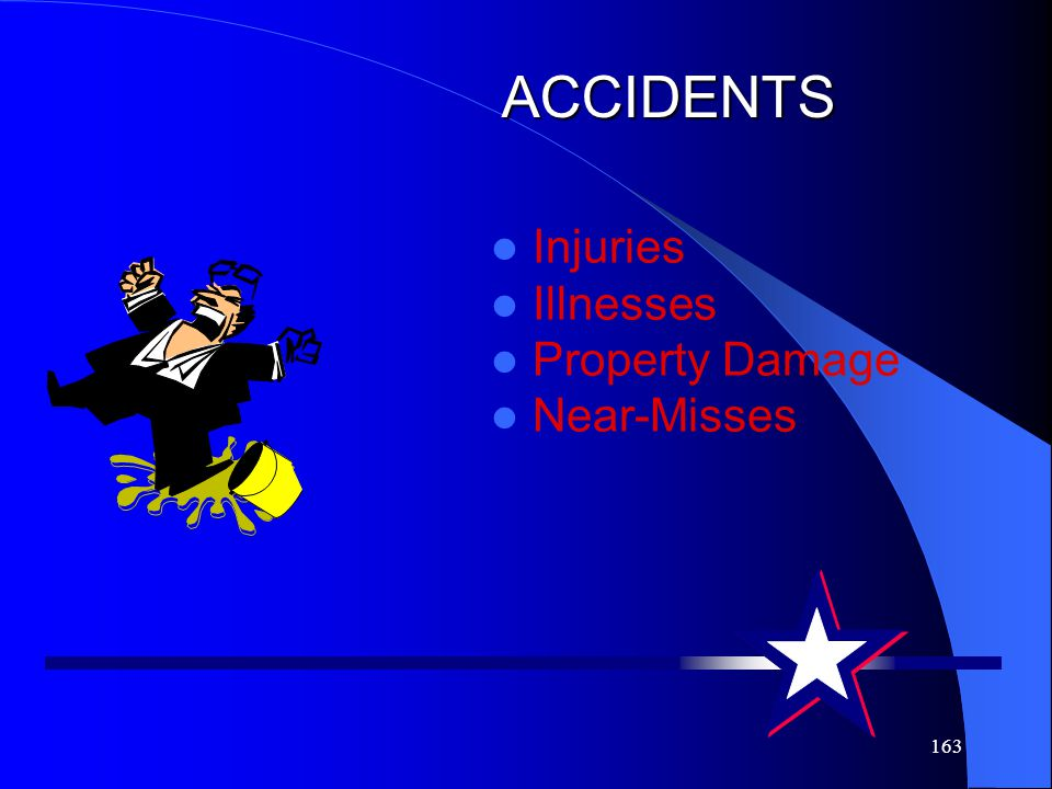 ACCIDENTS Injuries Illnesses Property Damage Near-Misses