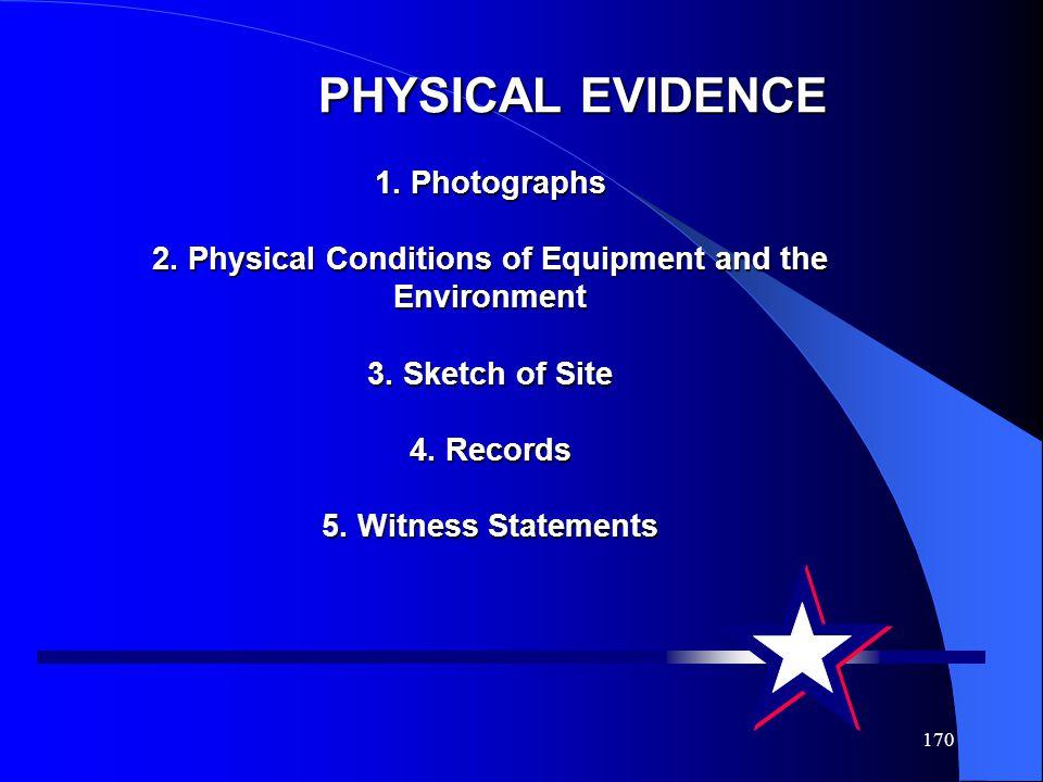 PHYSICAL EVIDENCE 1. Photographs 2