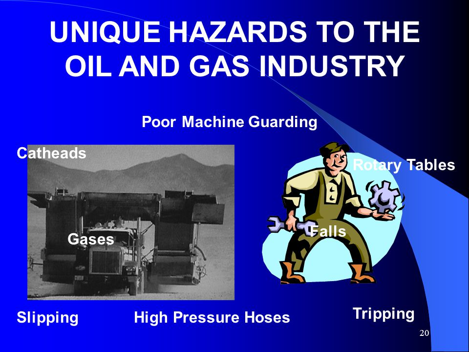 UNIQUE HAZARDS TO THE OIL AND GAS INDUSTRY