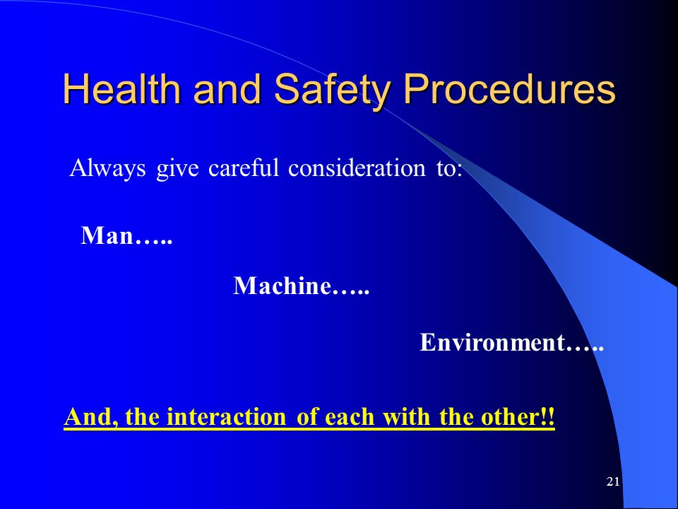 Health and Safety Procedures