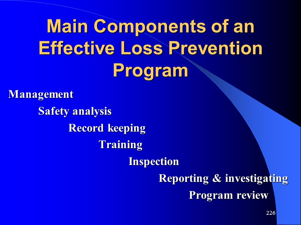 Main Components of an Effective Loss Prevention Program