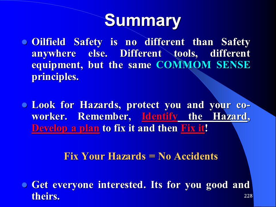 Fix Your Hazards = No Accidents