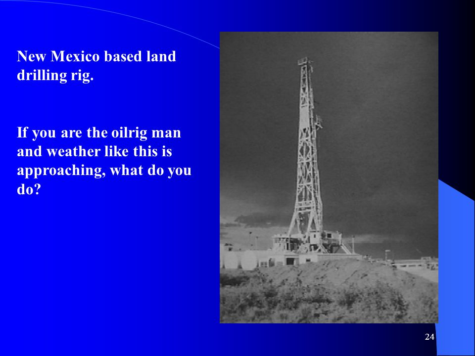 New Mexico based land drilling rig.
