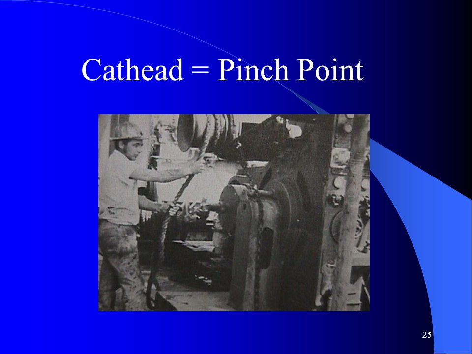Cathead = Pinch Point