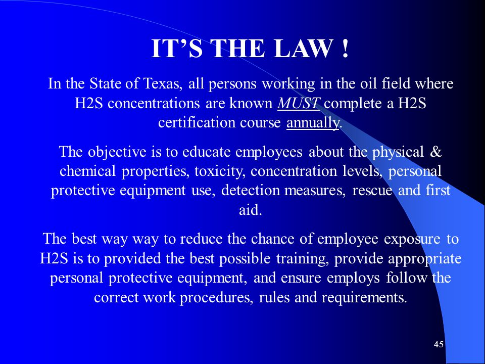 IT'S THE LAW !