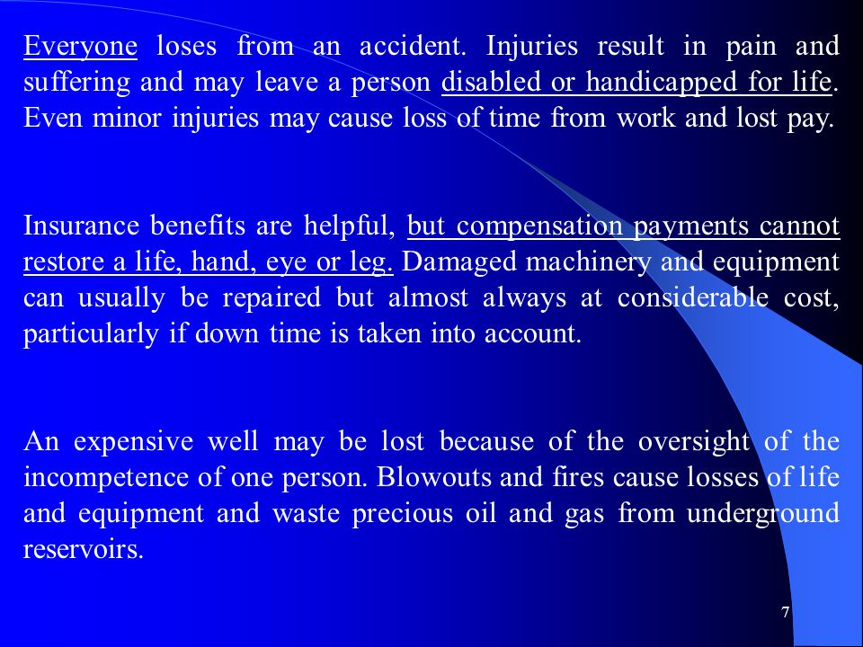 Everyone loses from an accident