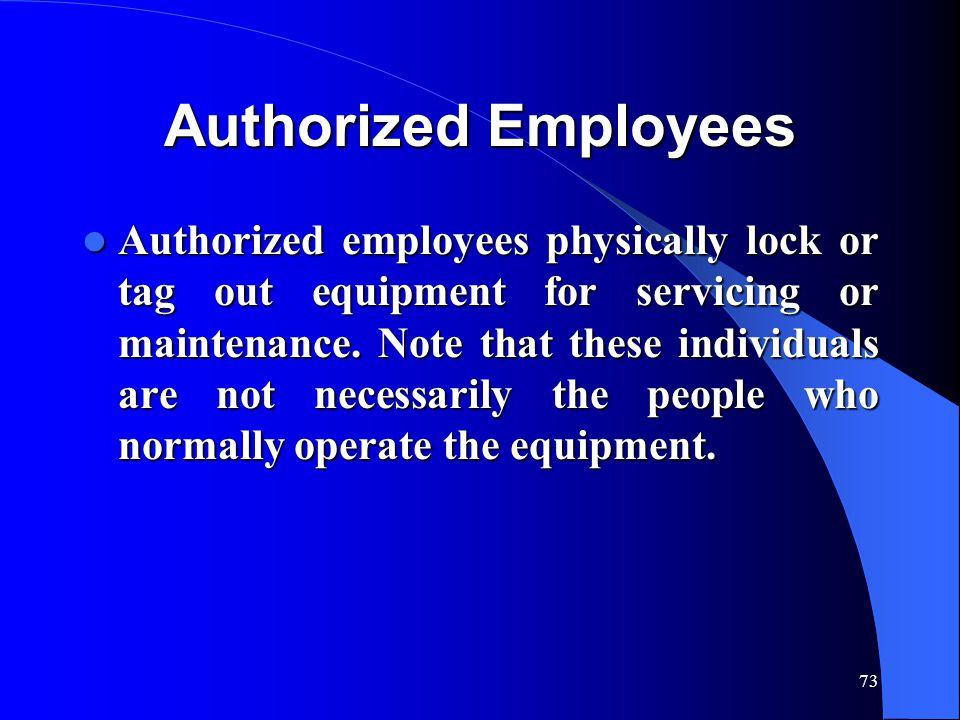 Authorized Employees