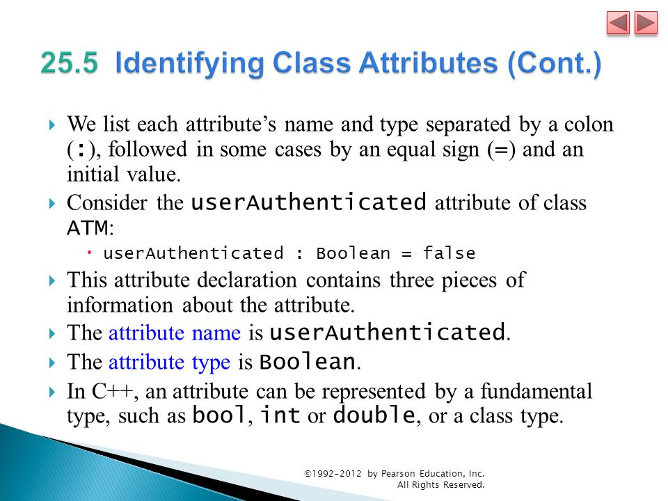 25.5 Identifying Class Attributes (Cont.)