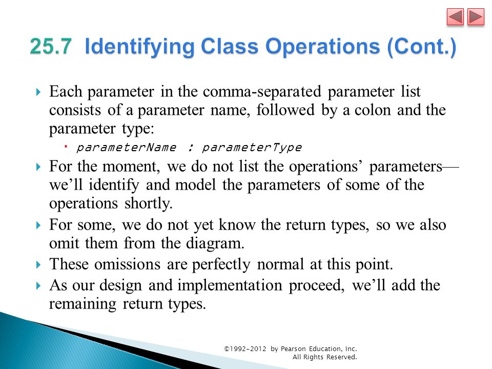 25.7 Identifying Class Operations (Cont.)