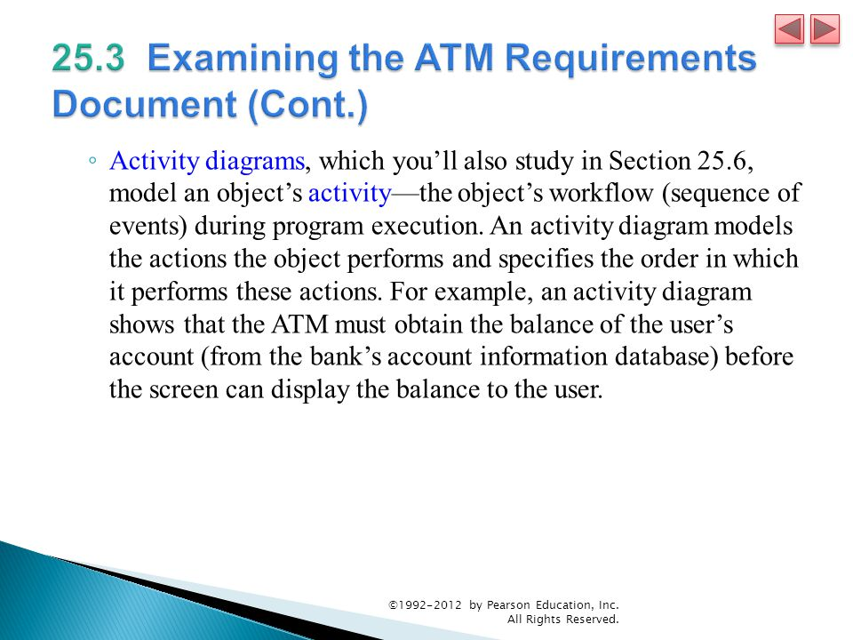 25.3 Examining the ATM Requirements Document (Cont.)