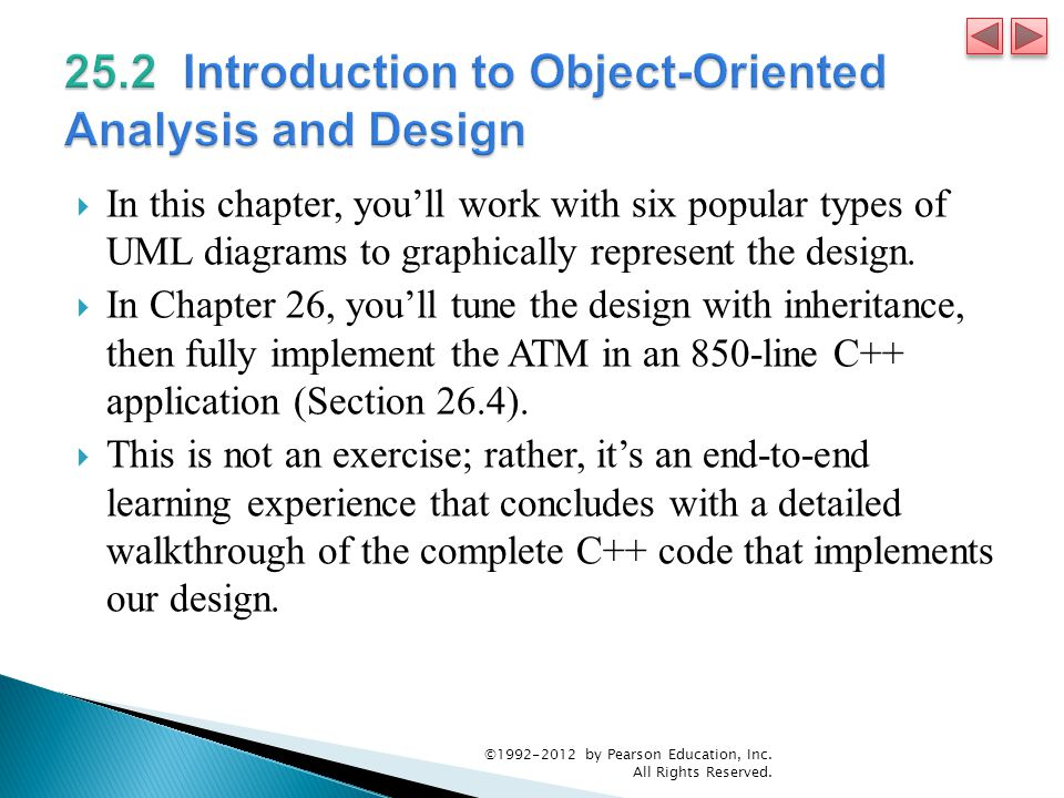 25.2 Introduction to Object-Oriented Analysis and Design