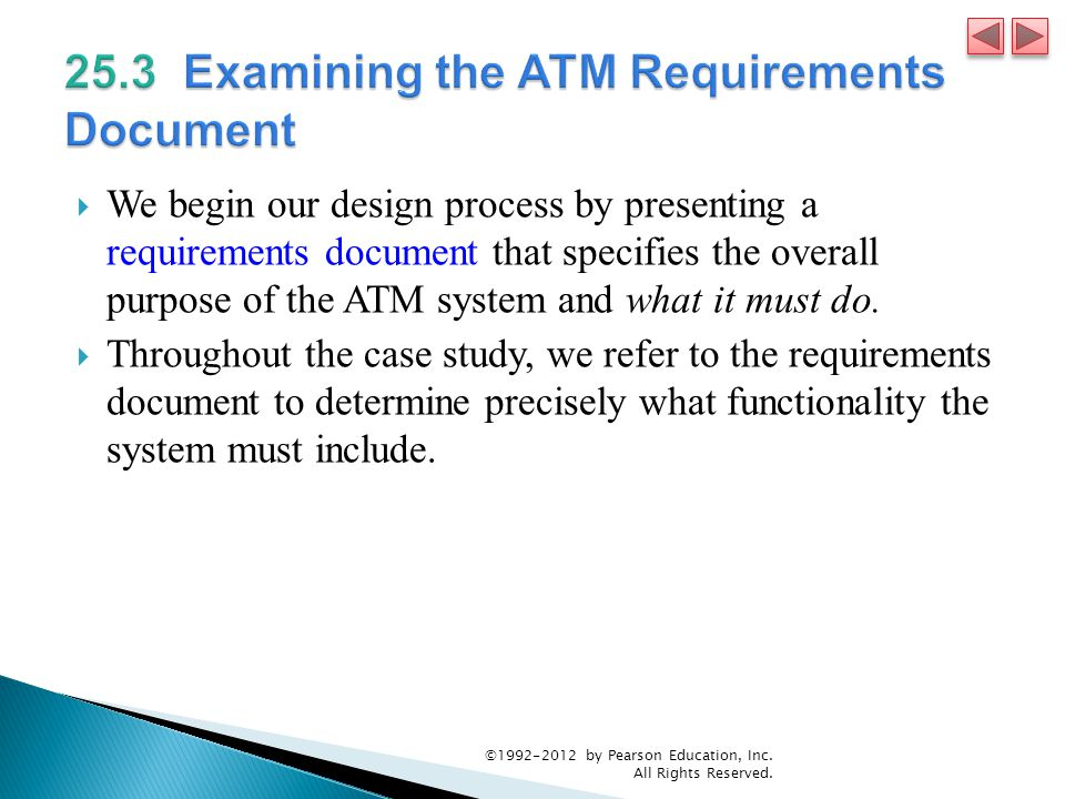 25.3 Examining the ATM Requirements Document