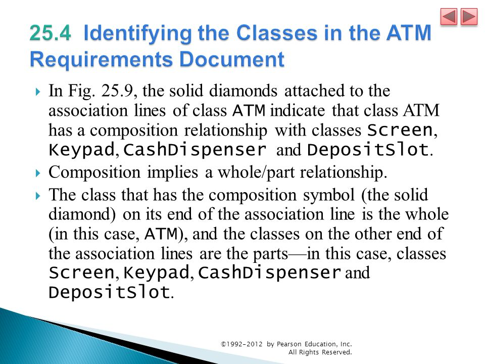 25.4 Identifying the Classes in the ATM Requirements Document