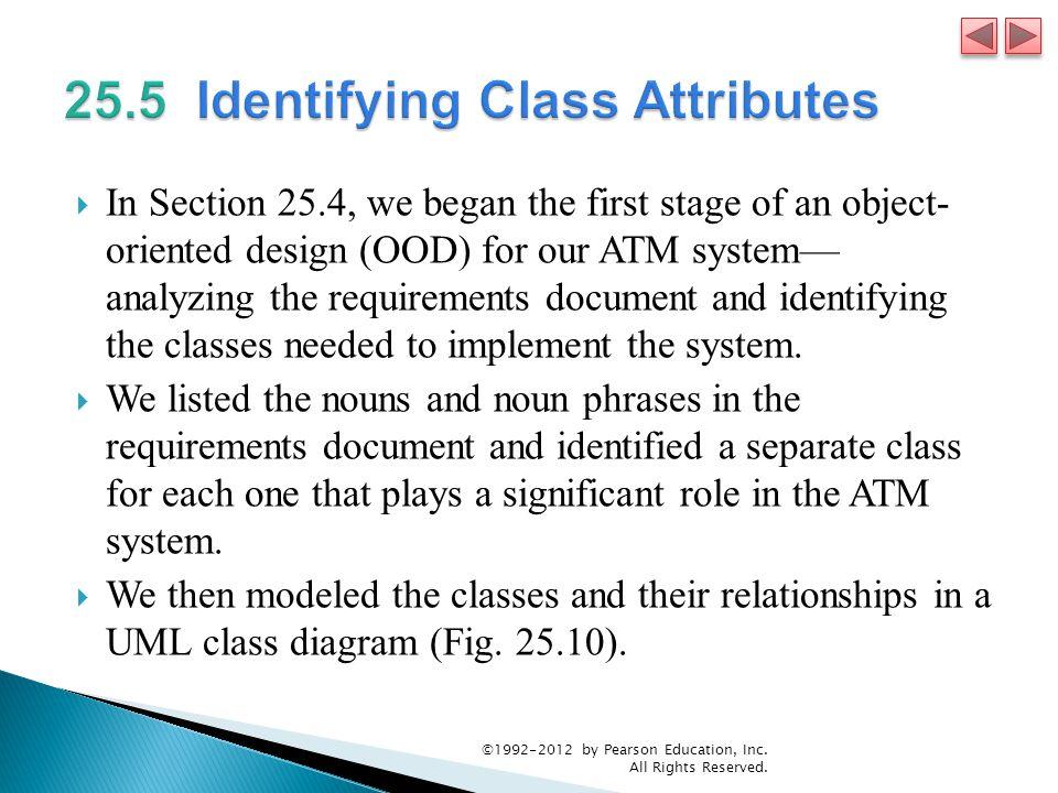 25.5 Identifying Class Attributes