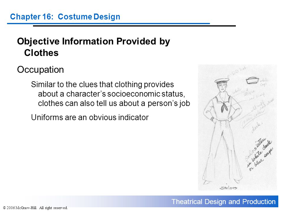 Objective Information Provided by Clothes Occupation