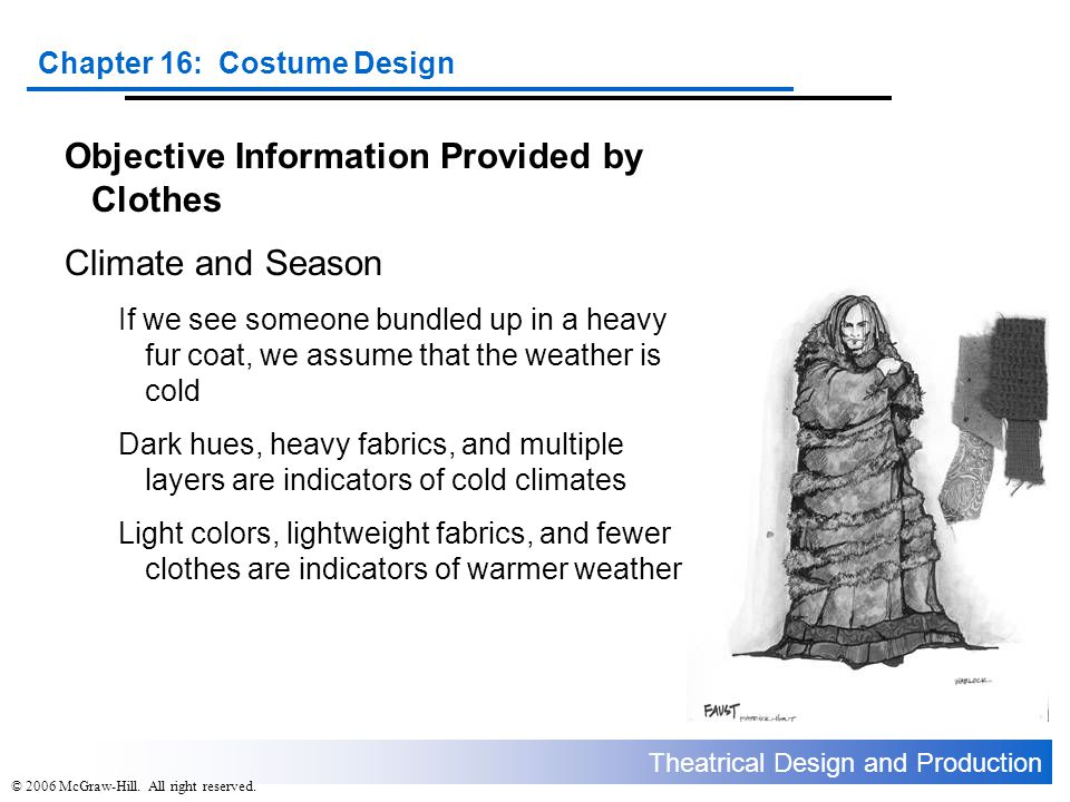 Objective Information Provided by Clothes Climate and Season