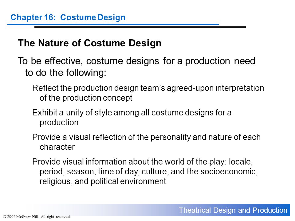 The Nature of Costume Design