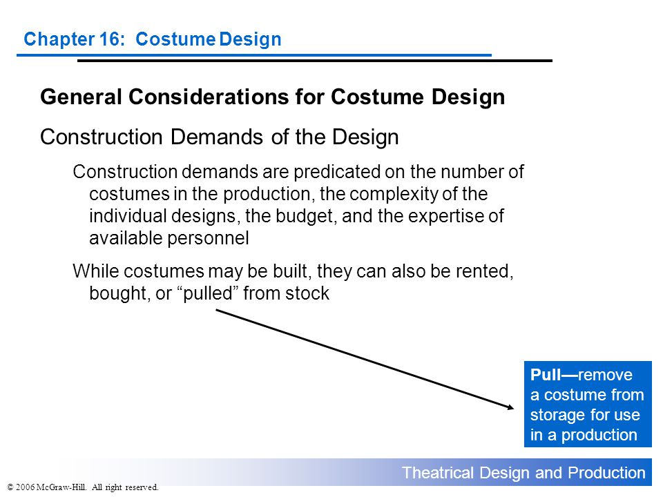 General Considerations for Costume Design