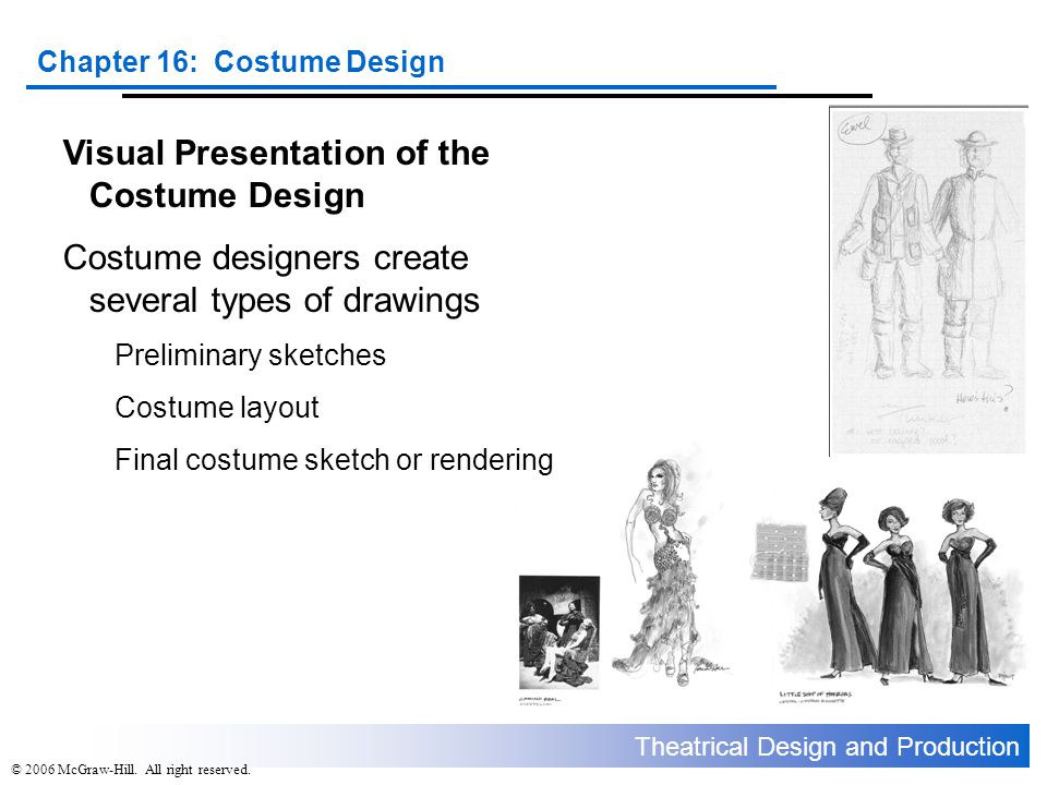 Visual Presentation of the Costume Design