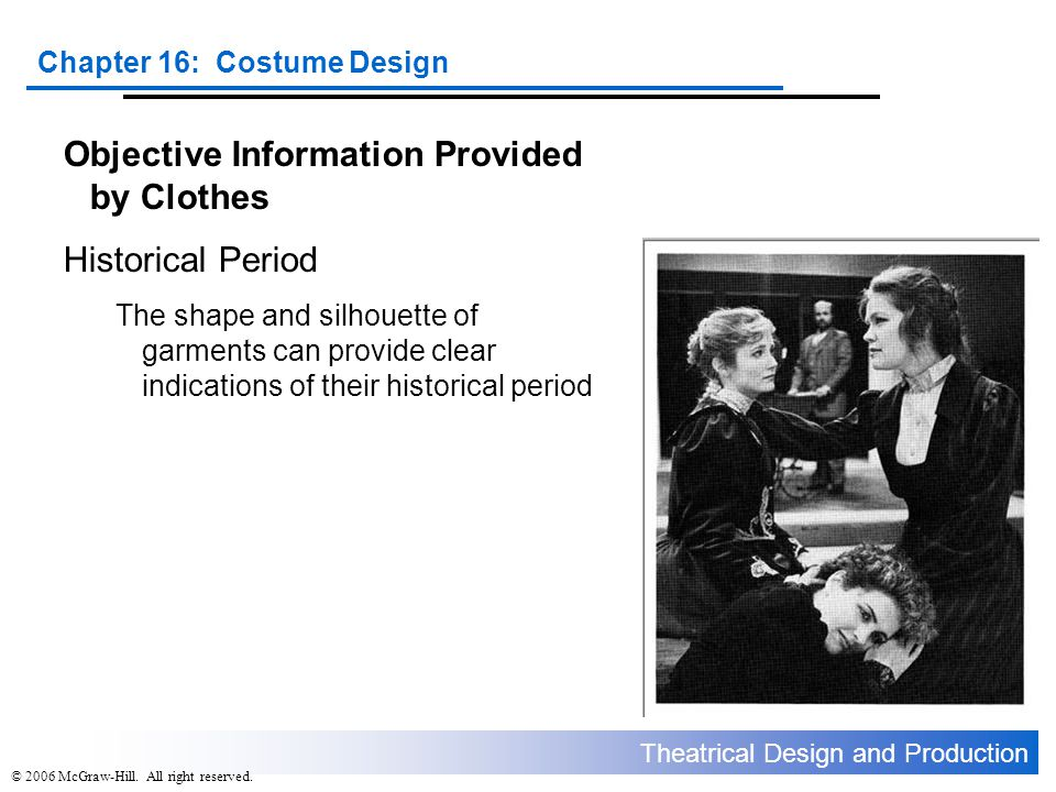 Objective Information Provided by Clothes Historical Period