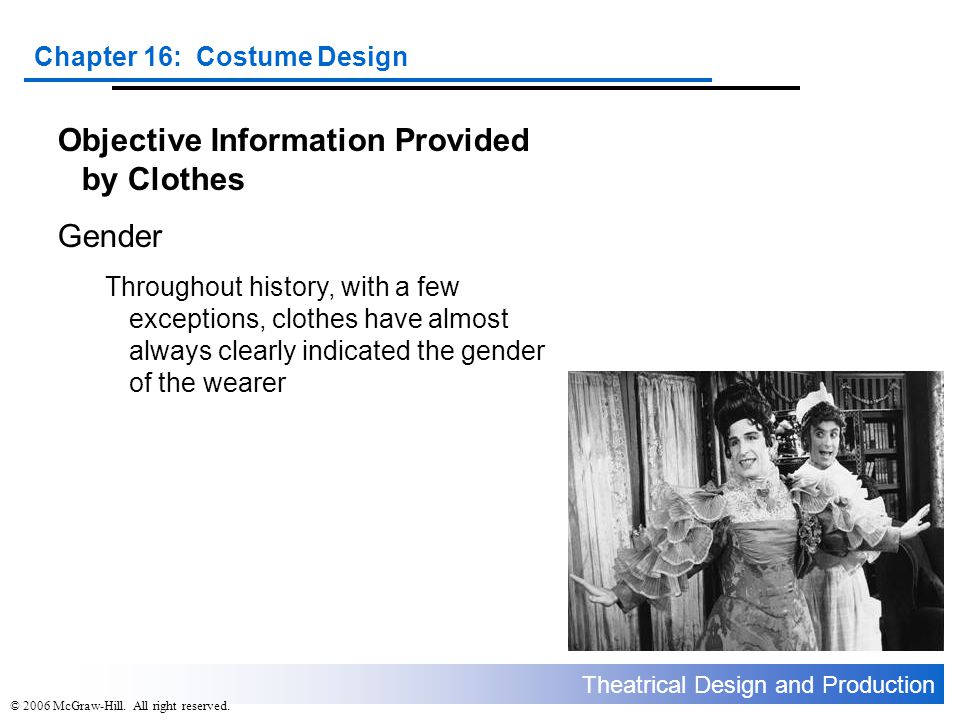 Objective Information Provided by Clothes Gender