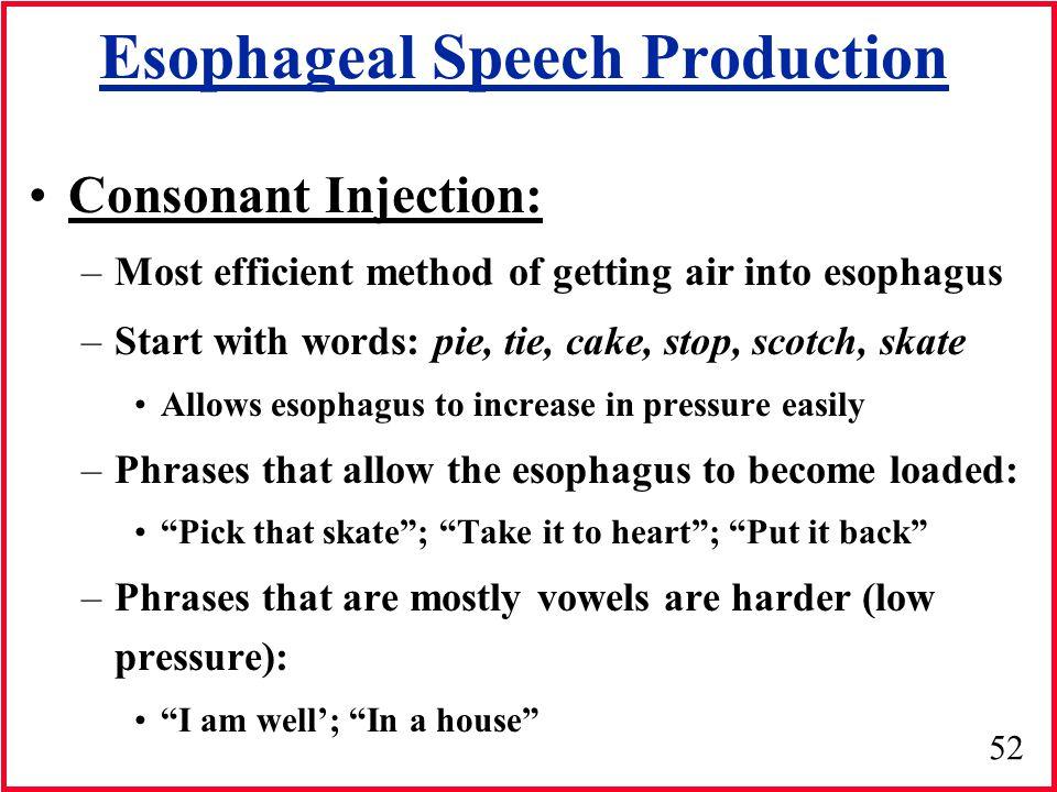 Esophageal Speech Production