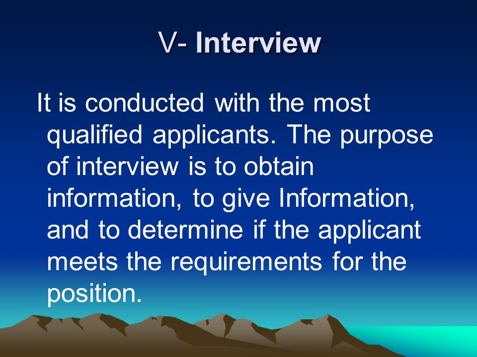 V- Interview