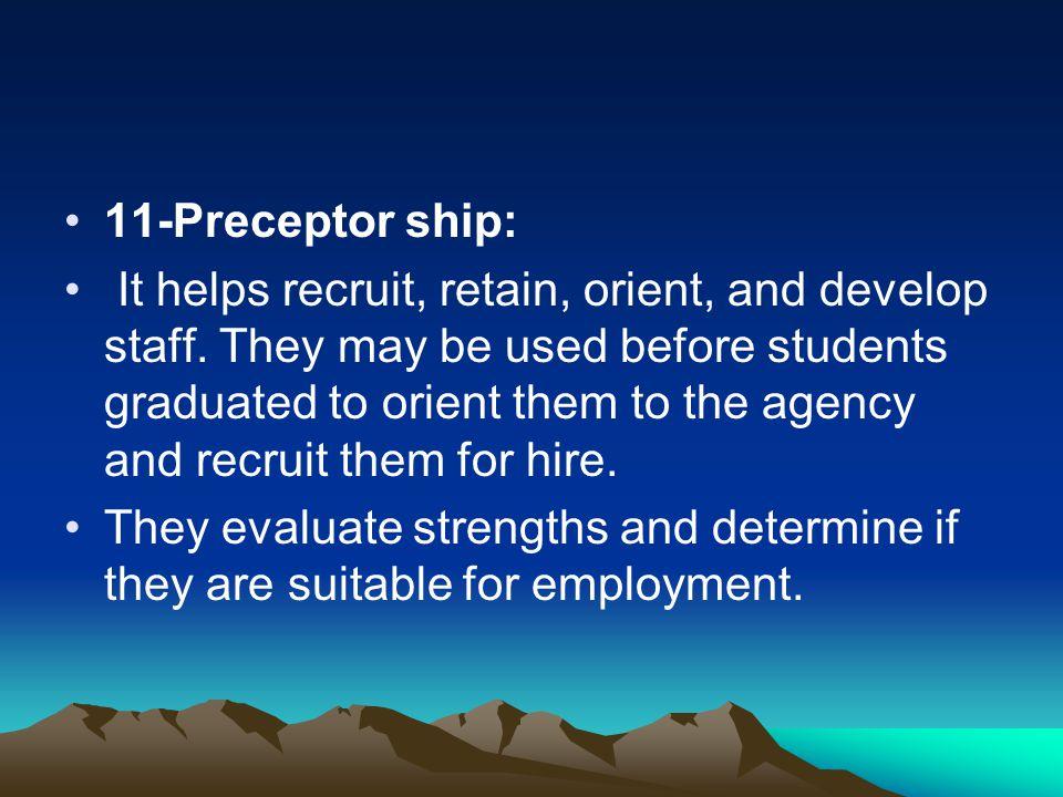 11-Preceptor ship: