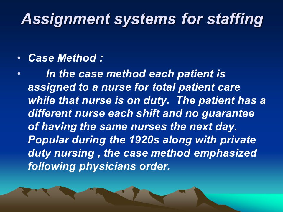 Assignment systems for staffing