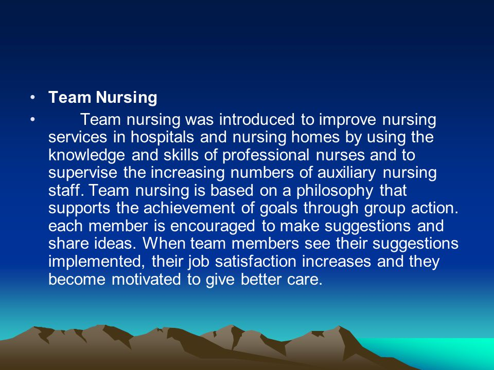 Team Nursing